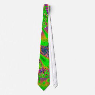 Psychédélique dichroïque au néon cravates