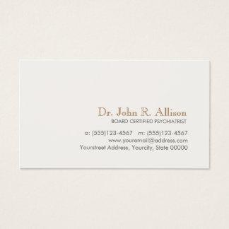 Psychiatre professionnel simple et élégant cartes de visite