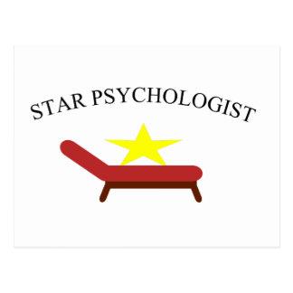 psychologue d'étoile carte postale