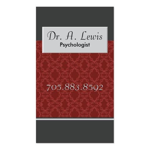 Psychologue et carte de visite médical - monogramm