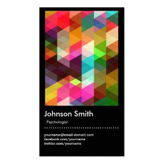 Psychologue - motif de mosaïque coloré carte de visite standard