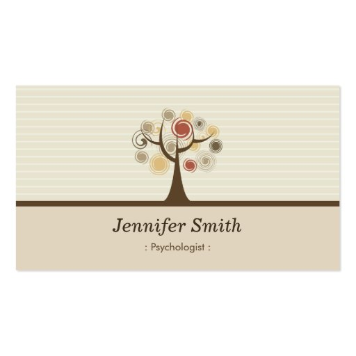 Psychologue - thème naturel élégant cartes de visite personnelles