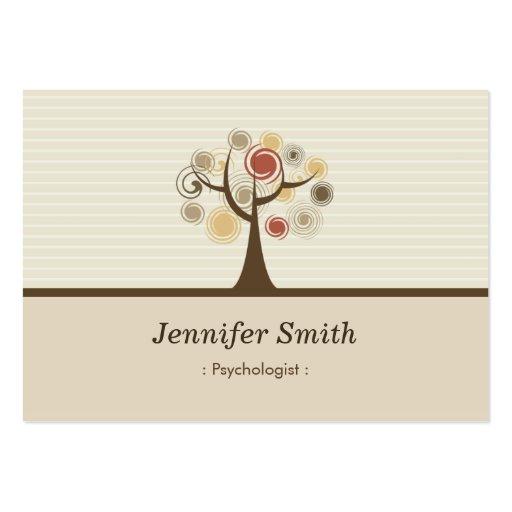 Psychologue - thème naturel élégant carte de visite