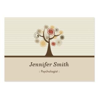 Psychologue - thème naturel élégant carte de visite grand format