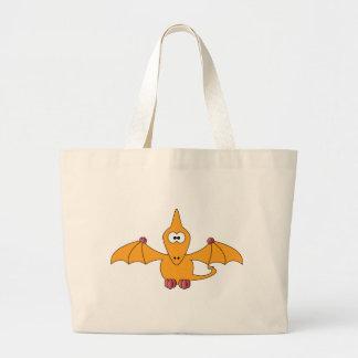 Ptérodactyle de bande dessinée (jaune) grand sac
