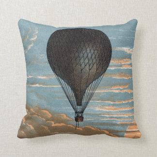 Publicité chaude française vintage de ballon à air coussin décoratif