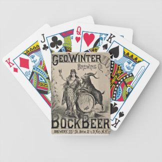 Publicité de bière de Bock la vieille Jeu De Cartes