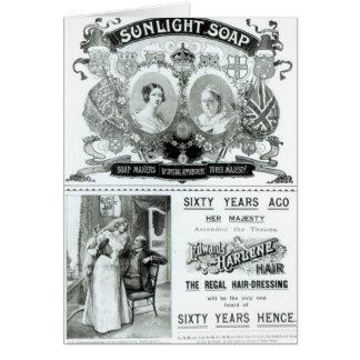 Publicité de savon de lumière du soleil carte de vœux