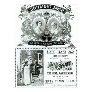 Publicité de savon de lumière du soleil cartes postales