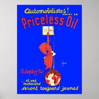 Publicité inestimable vintage d'huile de moteur posters