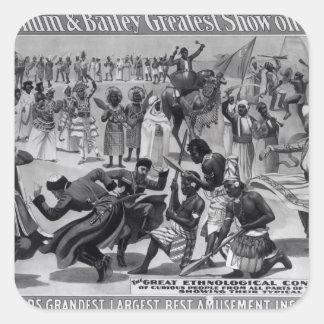 Publicité par affichage, 'le Barnum et le Bailey Sticker Carré