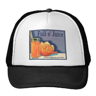 Publicité vintage de cultivateurs oranges de plein casquette de camionneur