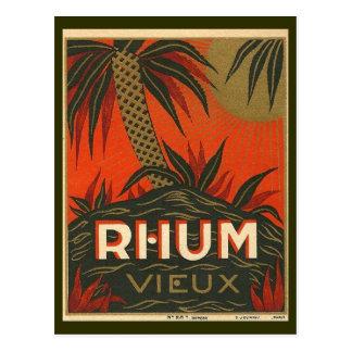 Publicité vintage de rhum cartes postales