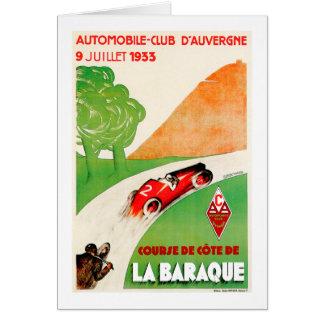 Publicité vintage de voiture de ~ de club cartes