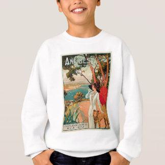 Publicité vintage de voyage d'Antibes France Sweatshirt