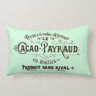 Publicité vintage française de chocolat de coussin décoratif