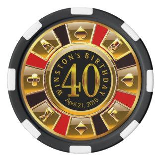 Puce de casino de Winston Vegas rouge et noire Rouleau De Jetons De Poker