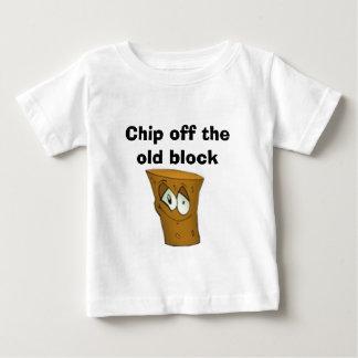 Puce outre du vieux bloc t-shirt pour bébé
