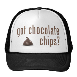 Puces de chocolat obtenues ? casquette de camionneur