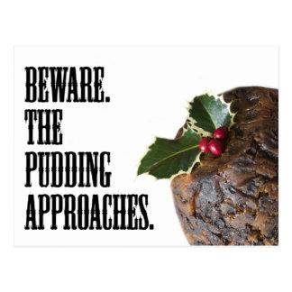Pudding de Noël sur le vagabondage, carte drôle Cartes Postales