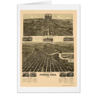 Pueblo, carte panoramique de Co - 1890