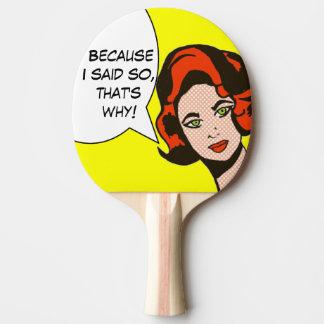 Puisque j'ai dit ainsi la palette de ping-pong de raquette de ping pong