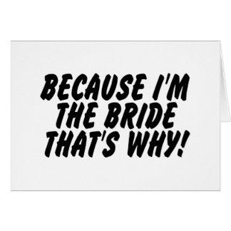 Puisqu'Im la jeune mariée qui est pourquoi Cartes De Vœux