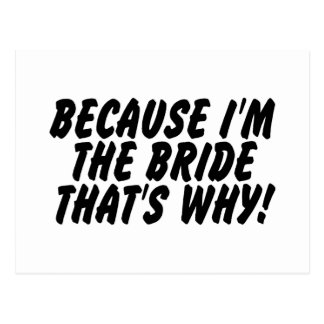 Puisqu'Im la jeune mariée qui est pourquoi Cartes Postales