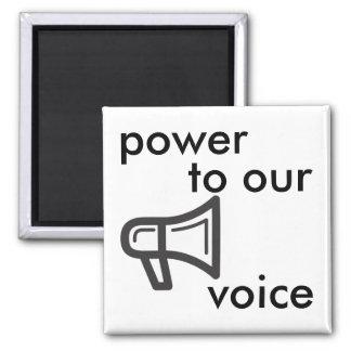 puissance à notre voix magnet carré