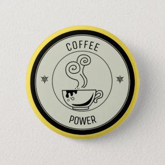 Puissance de café badge