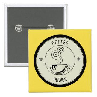 Puissance de café badges