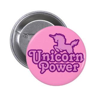 Puissance de licorne ! Boutons de nouveauté d'amus Badge Rond 5 Cm