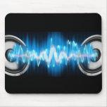 puissance de musique tapis de souris