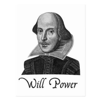 Puissance de volonté de William Shakespeare Cartes Postales