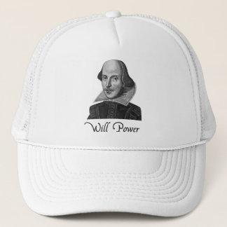 Puissance de volonté de William Shakespeare Casquette