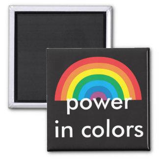 puissance en couleurs magnet carré