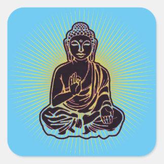 Puissance noire de Bouddha Sticker Carré