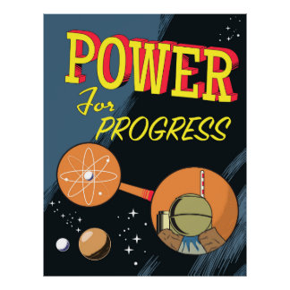 Puissance pour l'affiche atomique vintage de poster