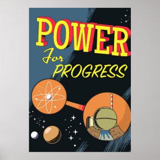 Puissance pour l'affiche atomique vintage de posters