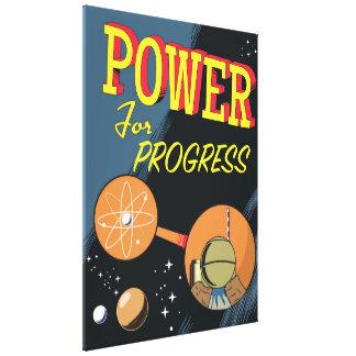 Puissance pour l'affiche atomique vintage de toiles