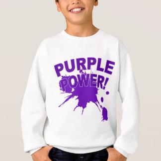 Puissance pourpre avec un grand floc de peinture sweatshirt