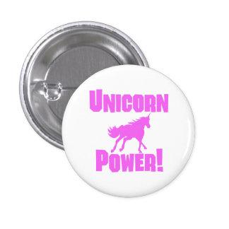 Puissance rose de licorne badge