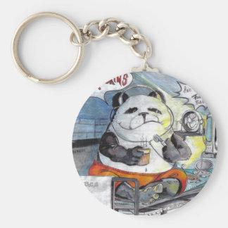 puissance Toon de marmotte d'Amérique de panda Porte-clé Rond