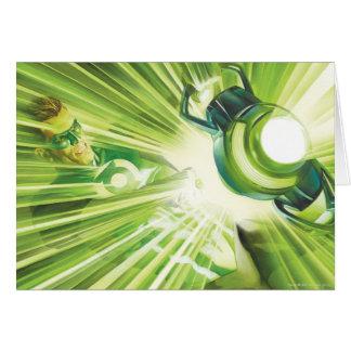 Puissance verte de lanterne carte de vœux