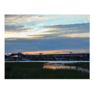 Pulaski à la carte postale de coucher du soleil