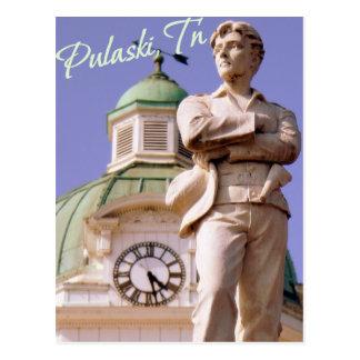 Pulaski, carte postale de statue de TN Sam Davis