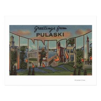 Pulaski, Tennessee - grandes scènes de lettre Carte Postale