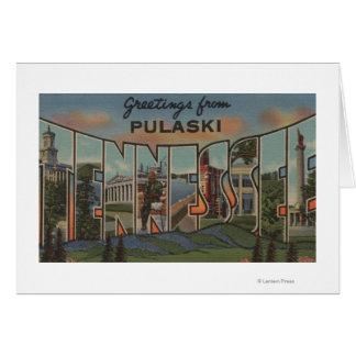 Pulaski, Tennessee - grandes scènes de lettre Cartes