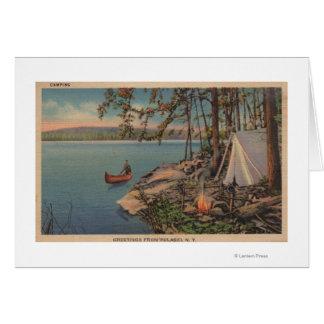 Pulaski, vue de NY de canoë, camping, tente, lac Cartes