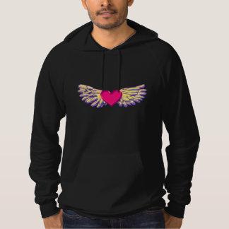 Pull À Capuche ailes de coeur